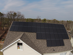 Picture of home installed in New Jersey with Solar panels